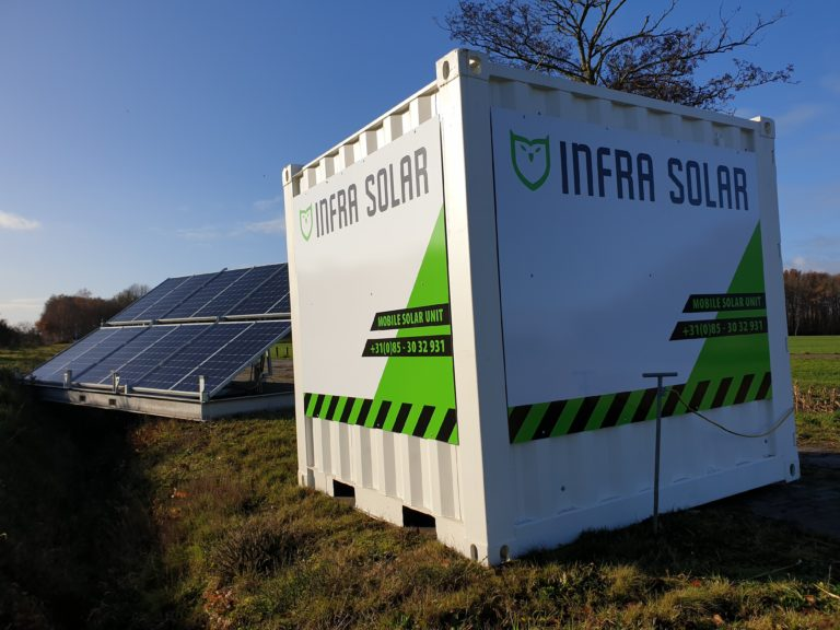 InfraSolar Mobile Energy Unit Zijaanzicht
